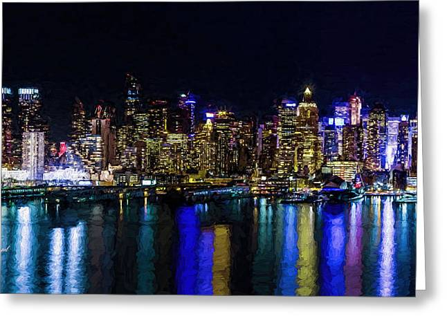 42nd President Greeting Cards - New York Reflections Greeting Card by Garland Johnson