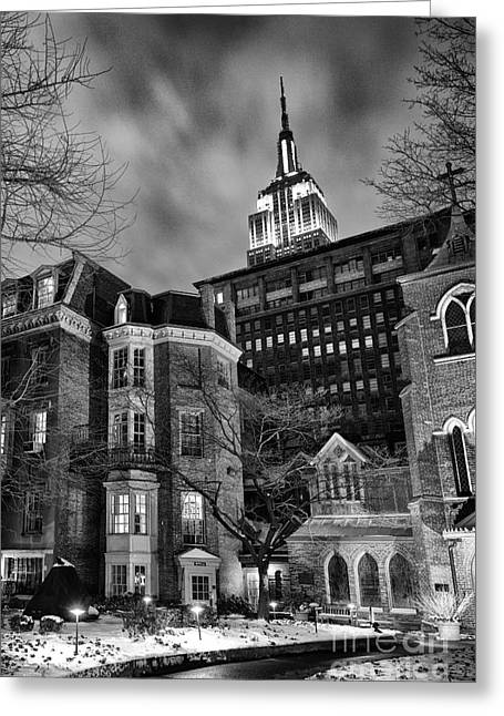 Church Street Greeting Cards - New York Scene Greeting Card by John Farnan