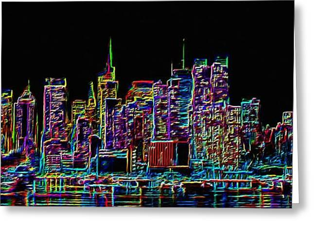 Abstract Movement Greeting Cards - New York Greeting Card by Sergio B