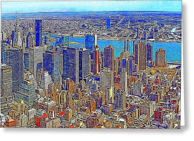 Highrise Digital Greeting Cards - New York Skyline 20130430 Greeting Card by Wingsdomain Art and Photography
