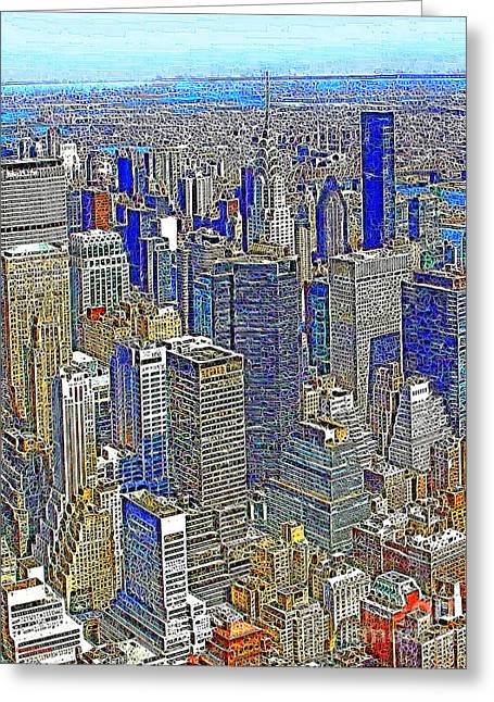 Woolworth Greeting Cards - New York Skyline 20130430v2 Greeting Card by Wingsdomain Art and Photography