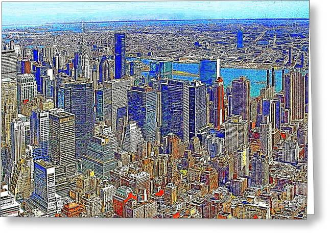 New York Skyline 20130430v3 Greeting Card by Wingsdomain Art and Photography