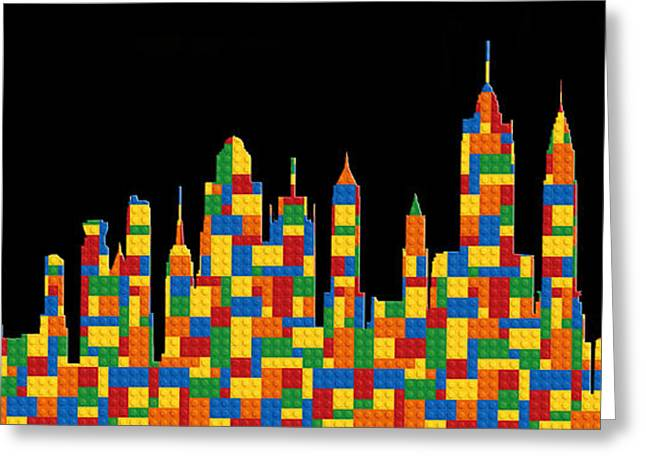 Lego Greeting Cards - New York Skyline 3 Greeting Card by Andrew Fare