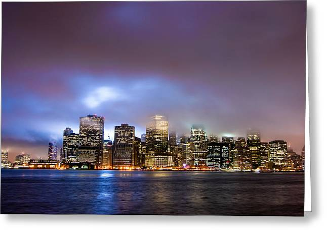 U2 Photographs Greeting Cards - New York Skyline 9-11-2009 Greeting Card by Alex Hiemstra