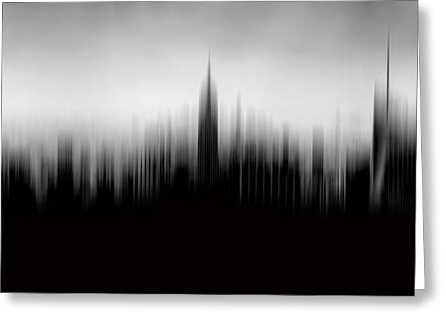 Photo Photography Greeting Cards - New York Skyline Abstract Greeting Card by Az Jackson