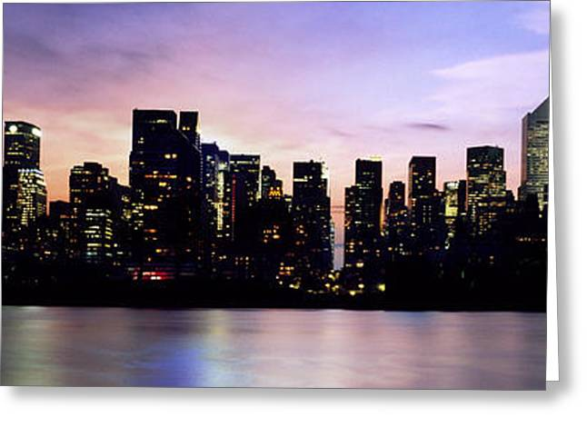 Modern Photographs Greeting Cards - New York Skyline Greeting Card by Aged Pixel