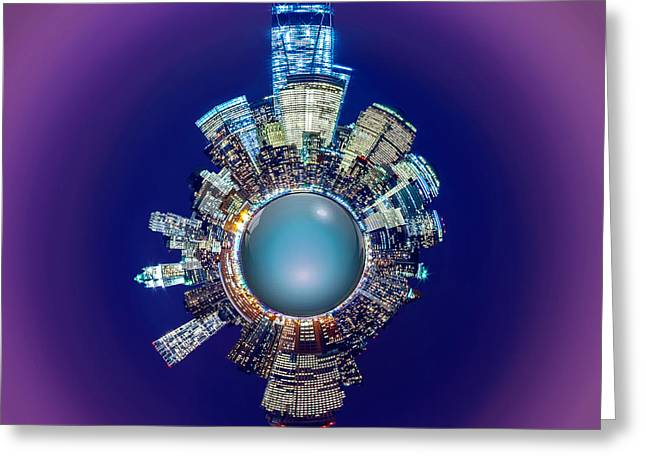 Wall Street Greeting Cards - New York Skyline Circagraph Greeting Card by Az Jackson