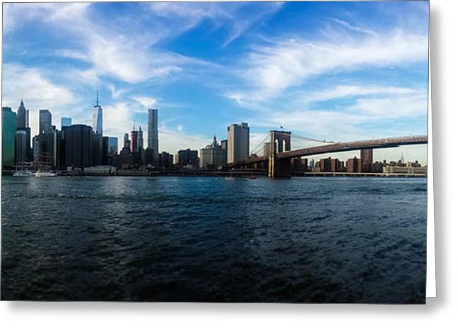 Trade Greeting Cards - New York Skyline - Color Greeting Card by Nicklas Gustafsson
