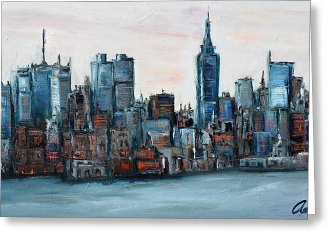 New York Skyline Greeting Card by Michael  Accorsi