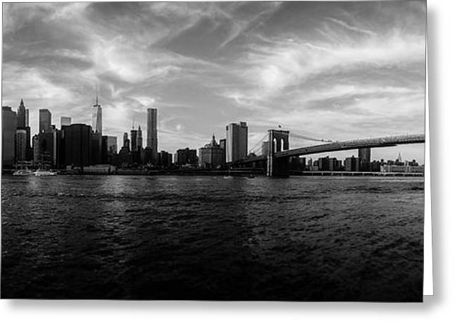 Trade Greeting Cards - New York Skyline Greeting Card by Nicklas Gustafsson