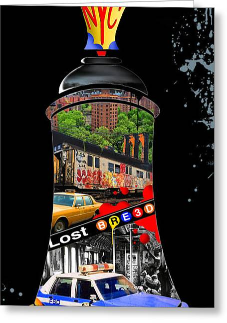 New Mind Digital Art Greeting Cards - New York State of Mind Greeting Card by Lost Breed Art
