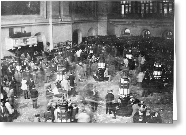 Stockbroker Greeting Cards - New York Stock Exchange, 1907 Greeting Card by Science Photo Library