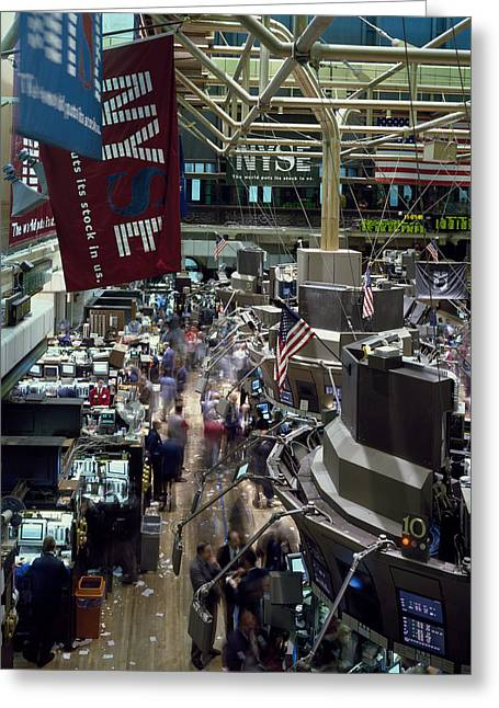 Frenzy Greeting Cards - New York Stock Exchange Greeting Card by Mountain Dreams