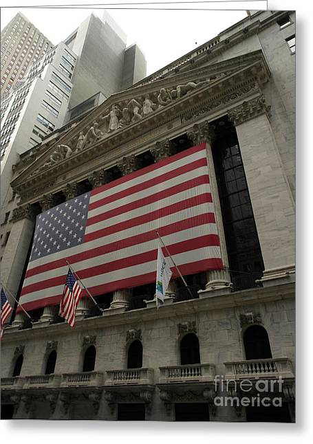 Wall Street Greeting Cards - New York Stock Exchange Greeting Card by David Bearden