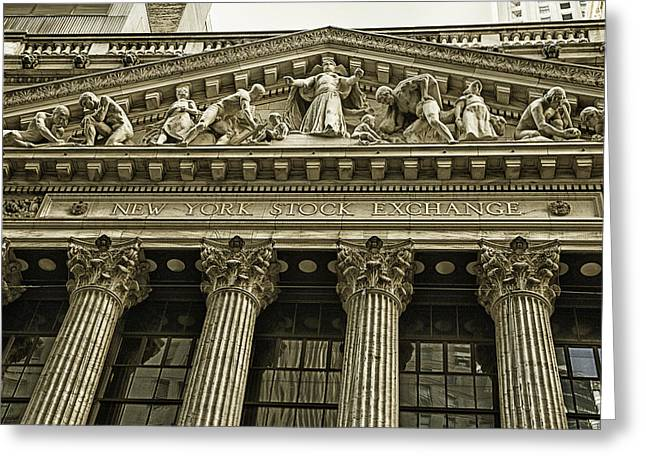 Wall Street Greeting Cards - New York Stock Exchange Greeting Card by Garry Gay