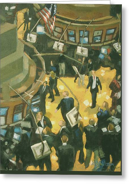 New York Stock Exchange Greeting Card by Gloria  Nilsson