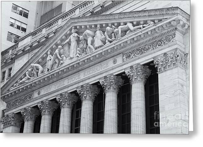 Wall Street Greeting Cards - New York Stock Exchange II Greeting Card by Clarence Holmes