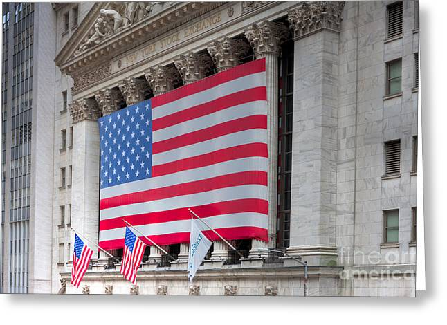 Enterprise Photographs Greeting Cards - New York Stock Exchange III Greeting Card by Clarence Holmes