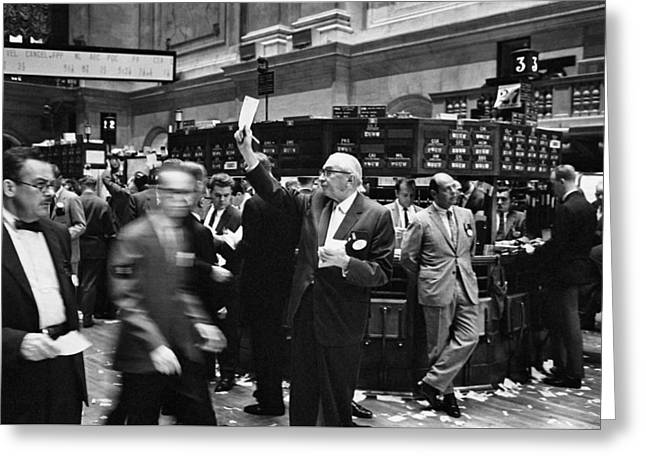 New York Stock Exchange Greeting Card by Underwood Archives