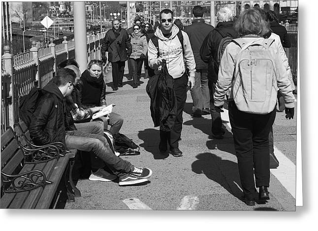 Downtown Books Greeting Cards - New York Street Photography 12 Greeting Card by Frank Romeo