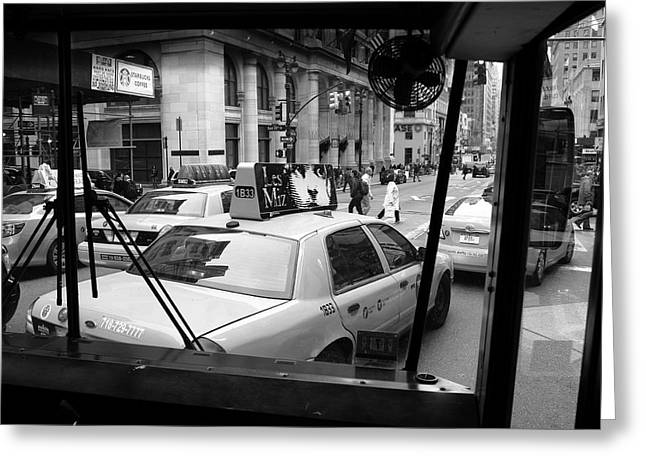 Bus Ride Greeting Cards - New York Street Photography 14 Greeting Card by Frank Romeo