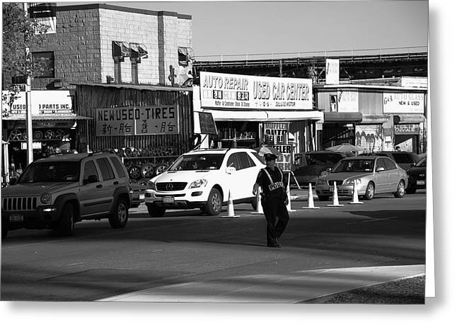 Police Art Greeting Cards - New York Street Photography 24 Greeting Card by Frank Romeo