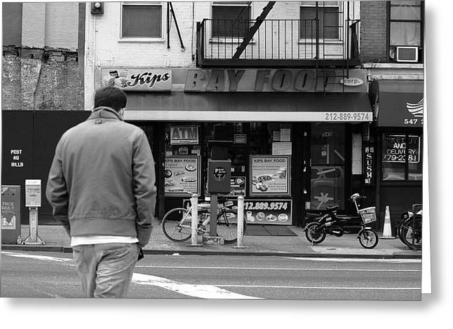 New York Street Photography 25 Greeting Card by Frank Romeo