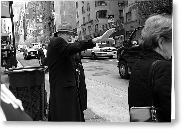 New York Street Photography 27 Greeting Card by Frank Romeo
