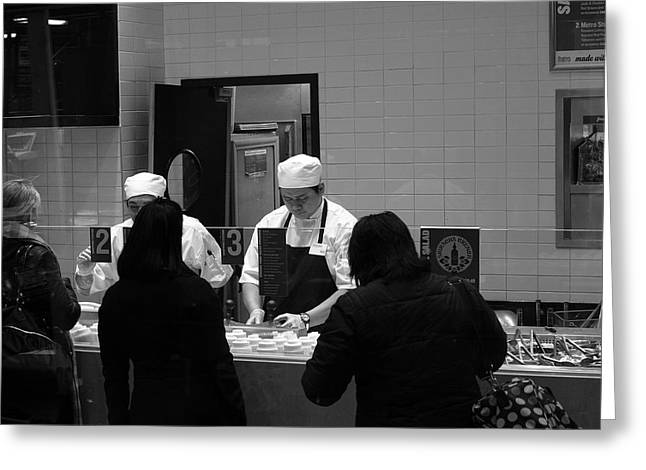 Apron Photographs Greeting Cards - New York Street Photography 31 Greeting Card by Frank Romeo