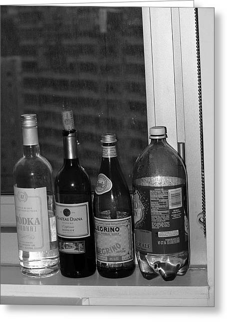 Wine Scene Greeting Cards - New York Street Photography 35 Greeting Card by Frank Romeo