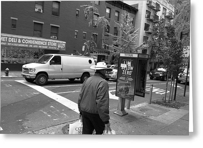 Deli Greeting Cards - New York Street Photography 46 Greeting Card by Frank Romeo