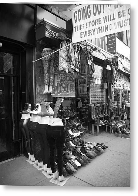 Inventory Greeting Cards - New York Street Photography 7 Greeting Card by Frank Romeo