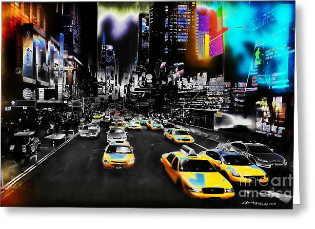 Contemporary Art By Christine Greeting Cards - New York Streets Greeting Card by Christine Mayfield