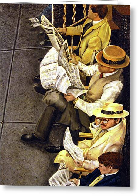 New York Times Greeting Card by Linda Simon