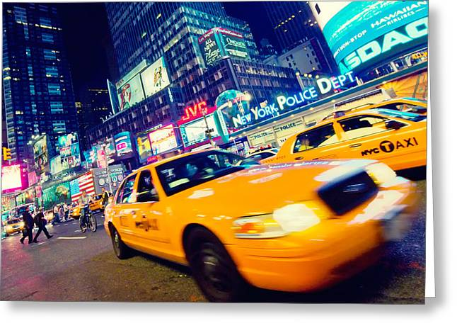 New York - Times Square Greeting Card by Alexander Voss