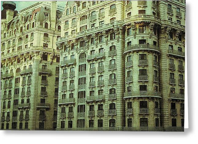 Urban Pyrography Greeting Cards - New York Upper West Side Apartment Building Greeting Card by Amy Cicconi