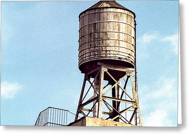 Apple Art Greeting Cards - New York water tower 1 - New York Scenes  Greeting Card by Gary Heller