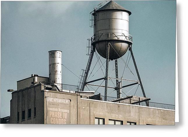 Gary Heller Greeting Cards - New York water towers 10 Greeting Card by Gary Heller