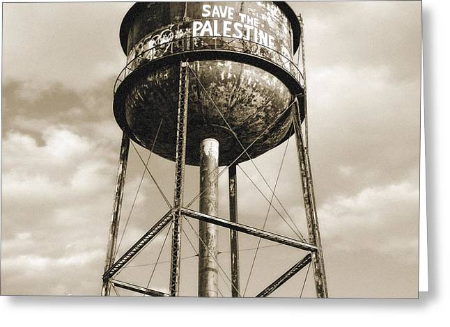 Political Statement Greeting Cards - New York water towers 11 - Greenpoint Brooklyn Greeting Card by Gary Heller