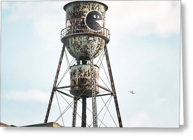 Old City Prints Greeting Cards - New York Water Towers 9 - Bed Stuy Brooklyn Greeting Card by Gary Heller