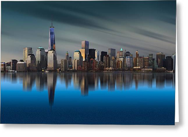 New York World Trade Center 1 Greeting Card by Yi Liang