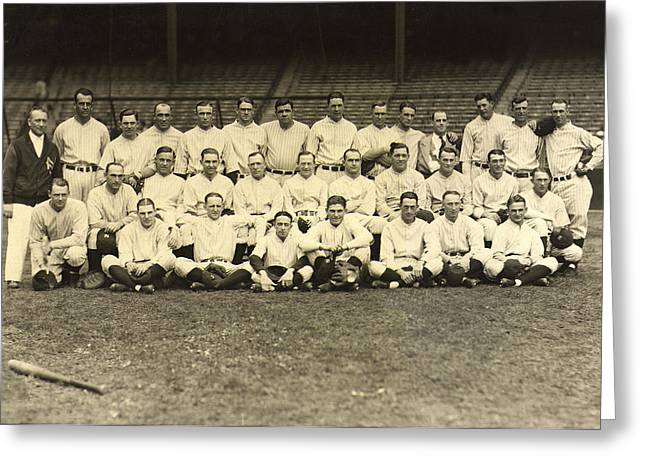 Yankees Greats Greeting Cards - New York Yankees 1926 Greeting Card by Unknown