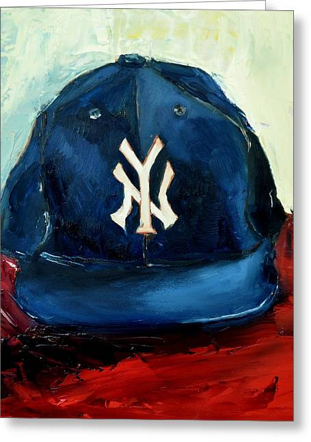Yanks Greeting Cards - New York Yankees Greeting Card by Lindsay Frost