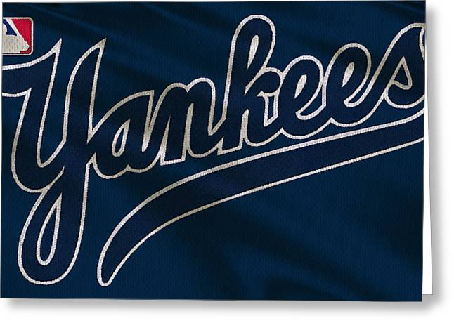 New York Yankees Uniform Greeting Card by Joe Hamilton