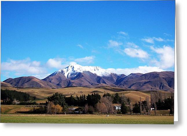 Landscape Framed Prints Greeting Cards - New Zealand Country Greeting Card by Nancy Pauling