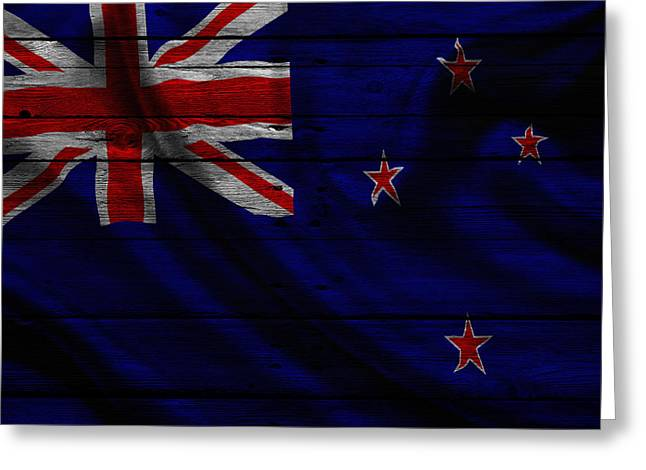 New Zealand Photographs Greeting Cards - New Zealand Greeting Card by Joe Hamilton
