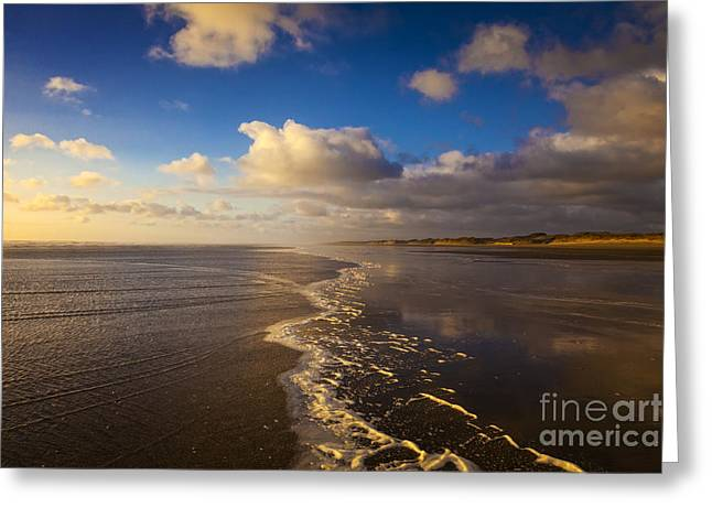 Beautiful Scenery Greeting Cards - New Zealand Ninety Mile Beach Greeting Card by Colin and Linda McKie