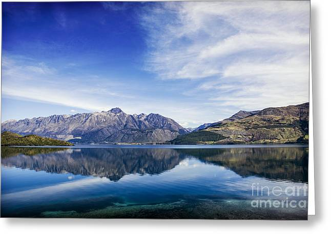 Beauty Greeting Cards - New Zealand Queenstown Lake Wakatipu Greeting Card by Colin and Linda McKie