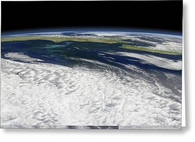 Algal Bloom Greeting Cards - New Zealand, satellite image Greeting Card by Science Photo Library