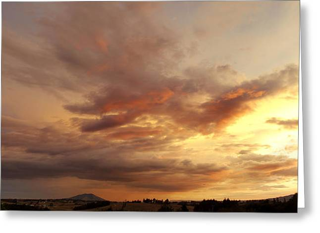 Season. Sky. Clouds Greeting Cards - New Zealand sunset Greeting Card by Les Cunliffe